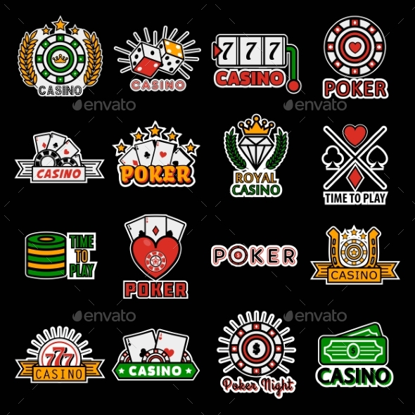 Casino Poker Logo Templates. Vector Set - Miscellaneous Vectors