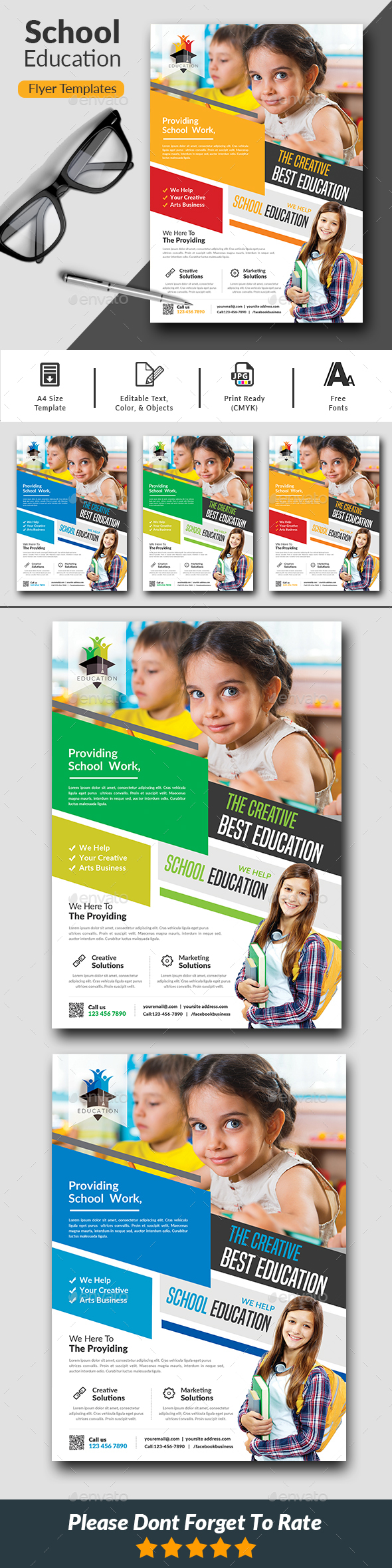 GraphicRiver School Education Flyer Templates 20839491