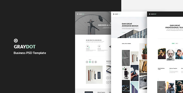 GRAYDOT - Business PSD Template - Corporate PSD Templates