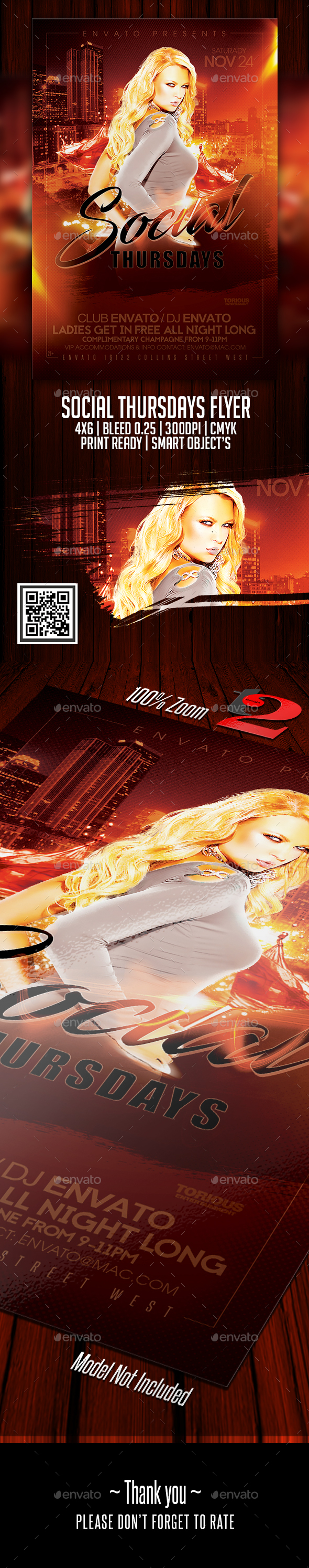 Social Thursdays Flyer Template - Clubs & Parties Events