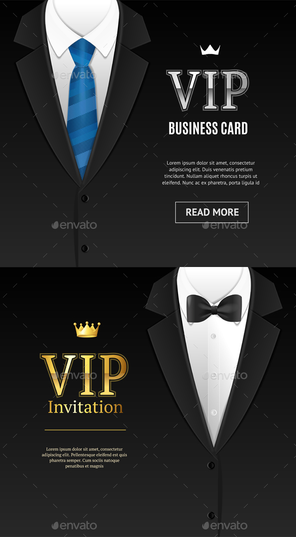 Vip invitation with bow tie vector by mousemd graphicriver vip invitation with bow tie vector conceptual vectors stopboris Gallery