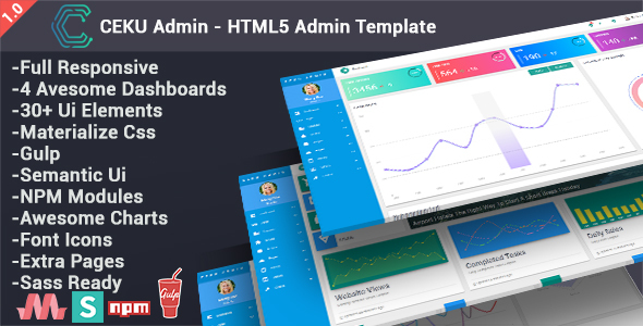 CEKU – Material Design Admin Template            nulled