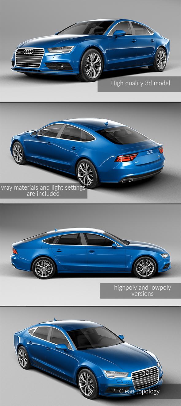 3DOcean Audi A7 Sportback 2017 20839644