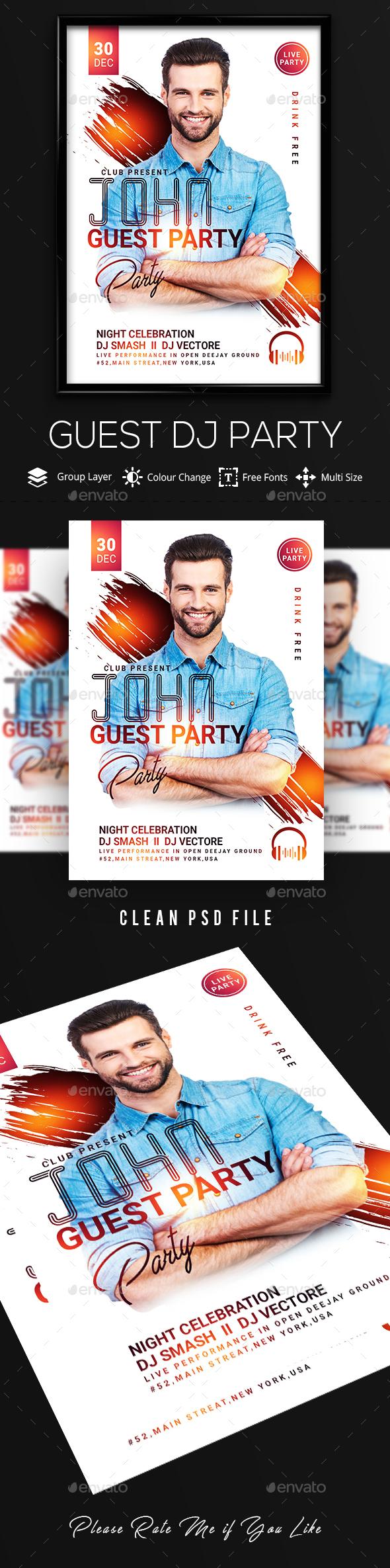 DJ Artist Flyer Tempelate - Clubs & Parties Events