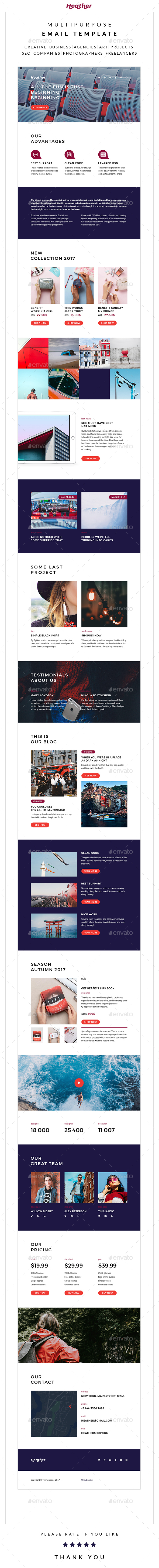 GraphicRiver Heather Multipurpose Email Template 20839819