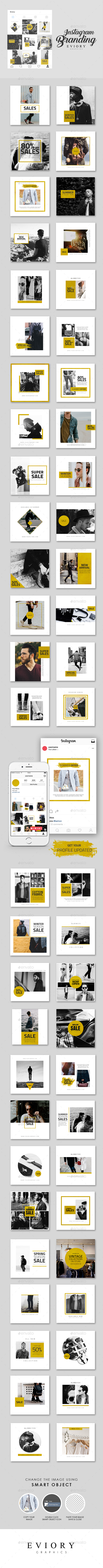 Instagram Branding Gold Edition - Social Media Web Elements