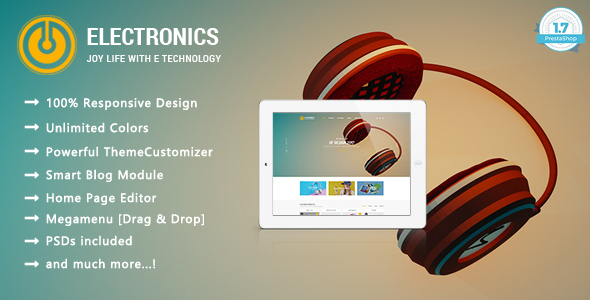 ThemeForest Electronic Shop Responsive Prestashop 1.7 Theme 20839889