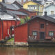 Traditional wooden houses in Porvoo. Finland old town heritage. Tourism  - PhotoDune Item for Sale