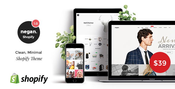 ThemeForest Negan Clean Minimal Shopify Theme 20839901