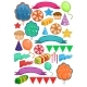 Colorful Birthday Party Elements Set - GraphicRiver Item for Sale