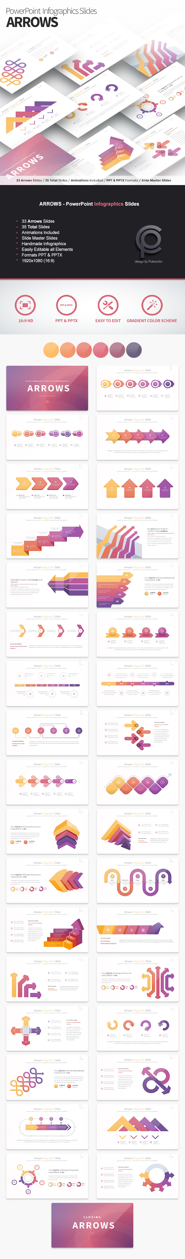 ARROWS - PowerPoint Infographics Slides - PowerPoint Templates Presentation Templates