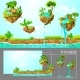 Isometric Game Tropical Nature Landscape Template