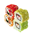 Japanese rolls isolated