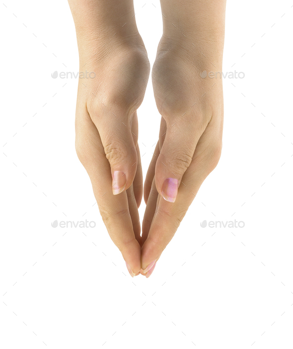 woman's praing hands isolated - Stock Photo - Images