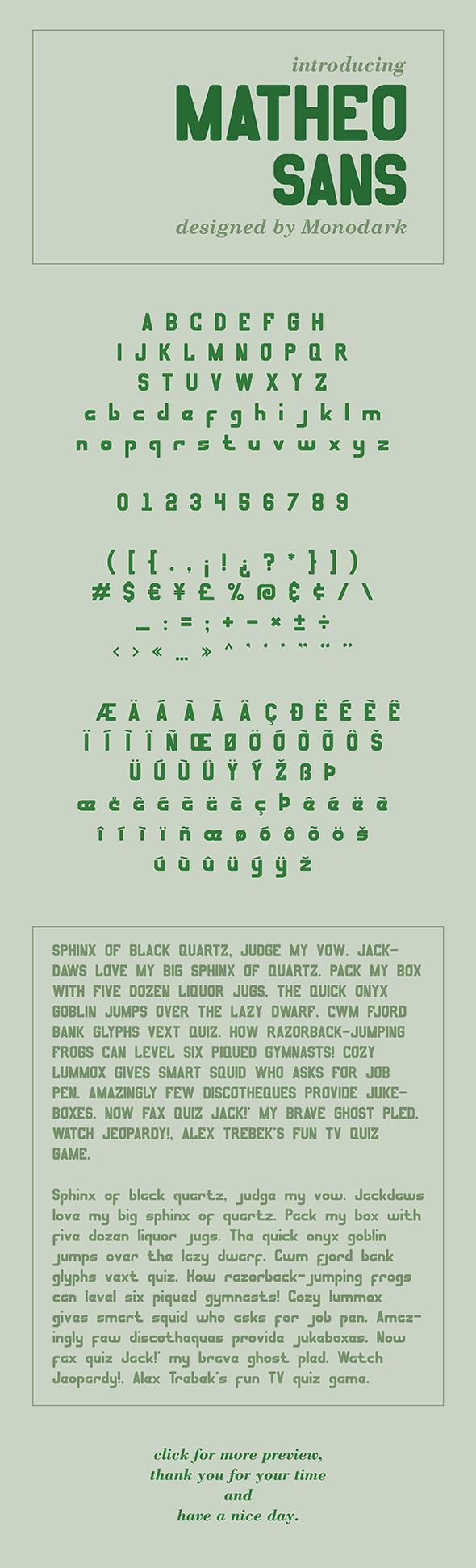 MATHEO SANS - Sans-Serif Fonts