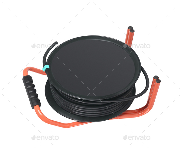 hose reel trolley isolated - Stock Photo - Images