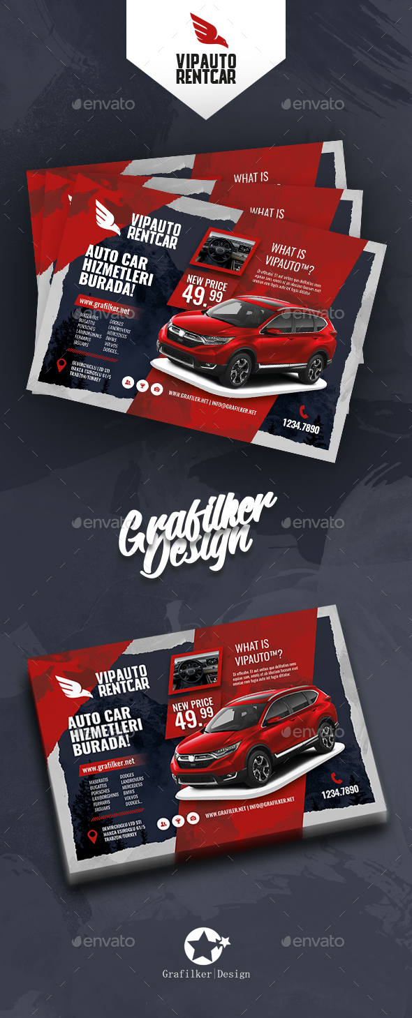 GraphicRiver Rent A Car Flyer Templates 20840144