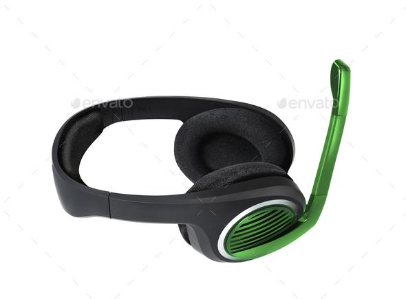 headset isolated - Stock Photo - Images