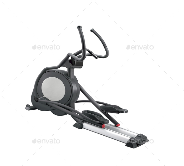 Elliptical gym machine isolated - Stock Photo - Images