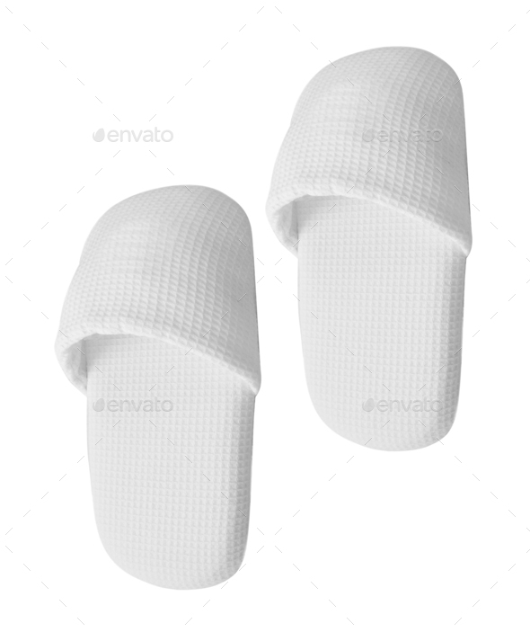 home slippers isolated - Stock Photo - Images