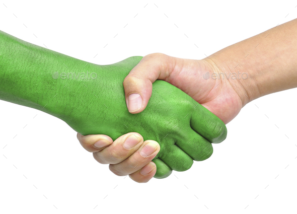 shake hands isolated - Stock Photo - Images