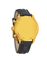 Men's luxury gold wrist watch isolated