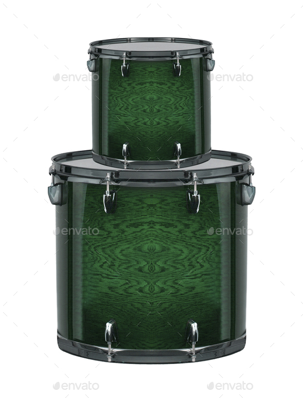 drums isolated - Stock Photo - Images