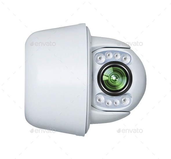 Modern Security Camera isolated - Stock Photo - Images