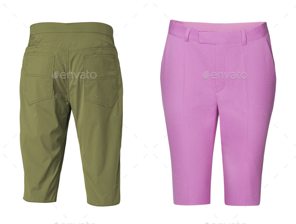 Men's and woman shorts - Stock Photo - Images
