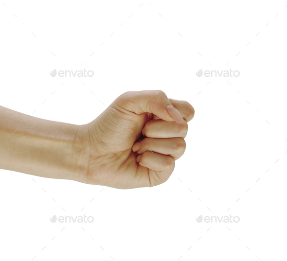 right female hand isolated - Stock Photo - Images