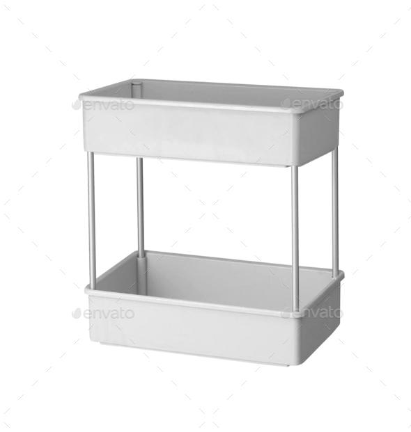 plastic shelves isolated - Stock Photo - Images