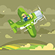 Pilot Flying on Airplane in Sky - GraphicRiver Item for Sale