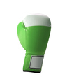 Green protective boxing glove