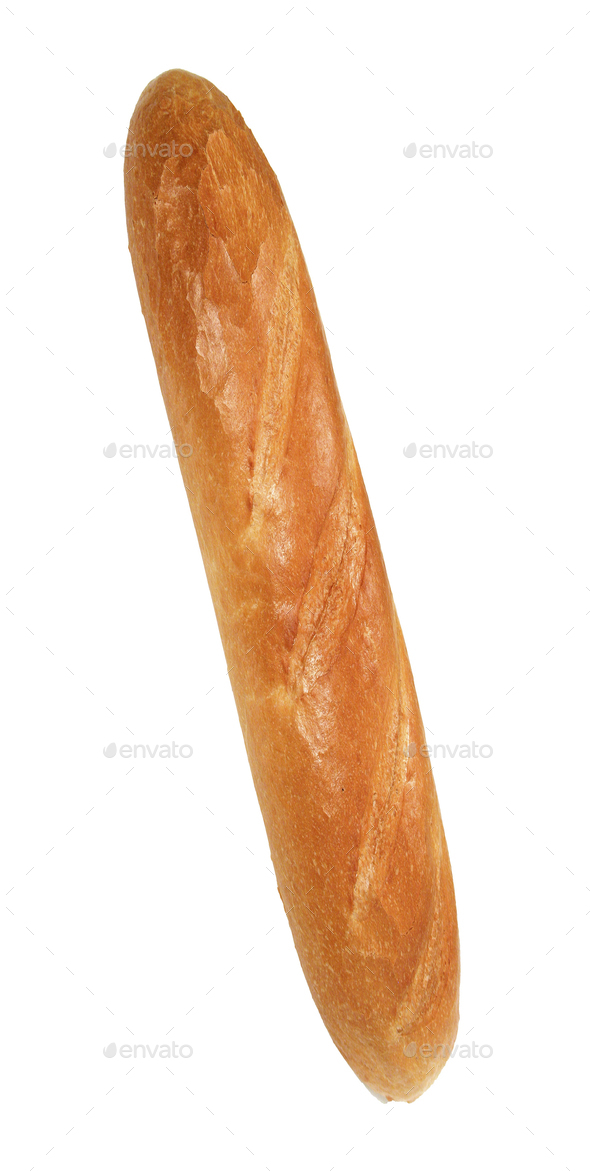 French baguette isolated - Stock Photo - Images