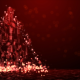 Red Techno Christmas Tree - VideoHive Item for Sale