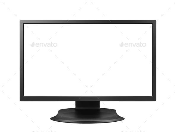 monitor isolated - Stock Photo - Images