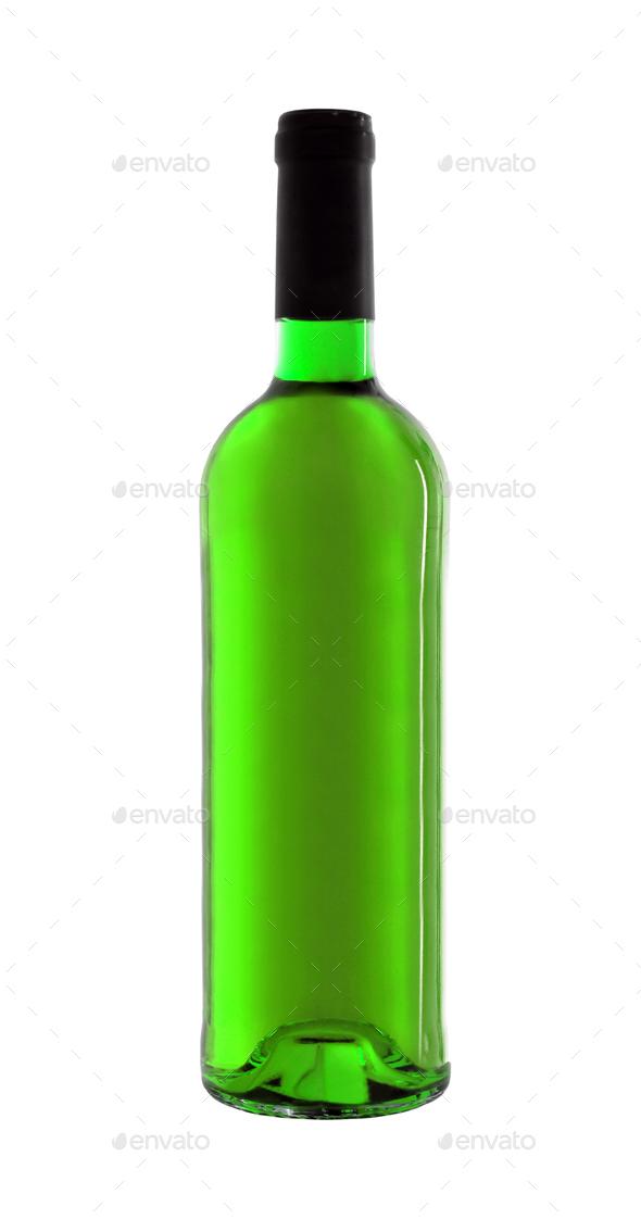 Bottle of Wine isolated - Stock Photo - Images