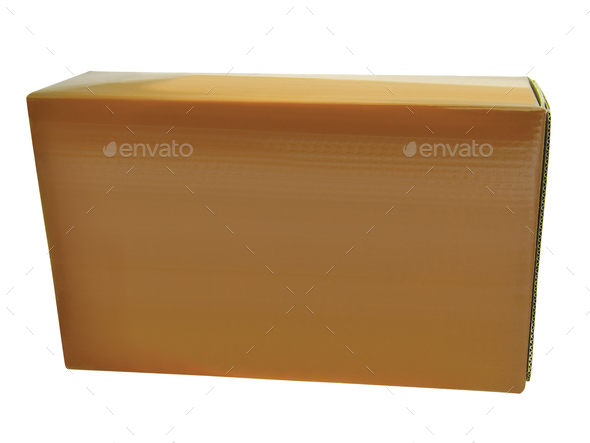 Cardboard box isolated - Stock Photo - Images