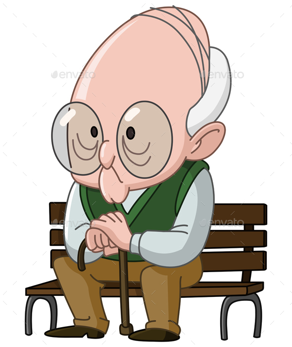 GraphicRiver Old Man on Bench 20840258