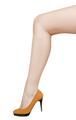 Long woman leg isolated