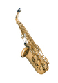 Tenor sax golden saxophone isolated