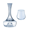 Glass jug of water isolated
