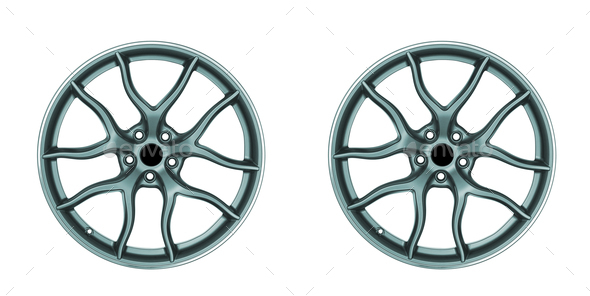 wheels disc isolated - Stock Photo - Images