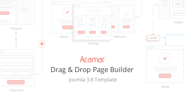 Acamar — Tiled Layout and Clean Design Responsive Joomla Template