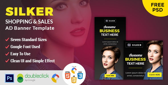 Silker | Business HTML 5 Animated Google Banner - CodeCanyon Item for Sale