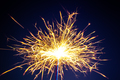 burning christmas sparkler