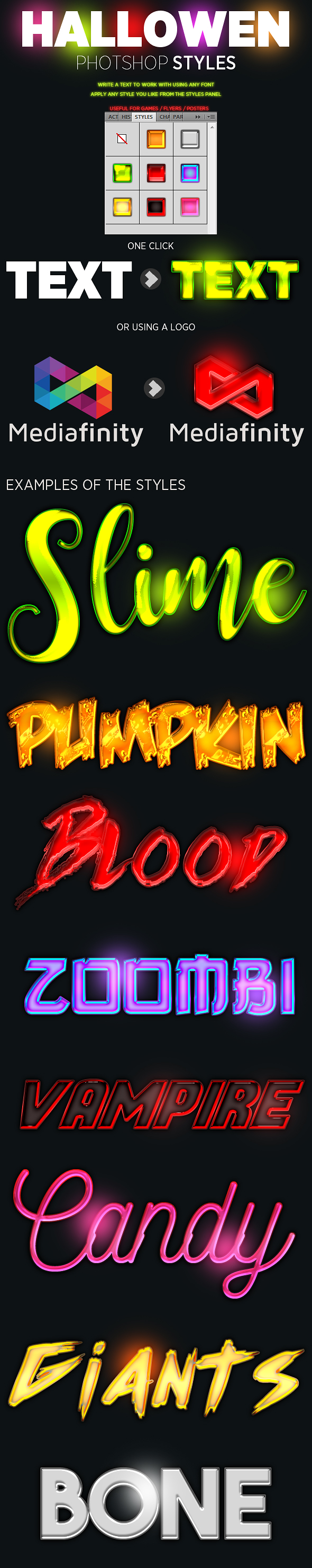 Halloween FX - Styles Photoshop
