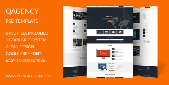 QAgency PSD Template - Business Corporate