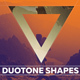 Duotone Geometric Shapes - GraphicRiver Item for Sale
