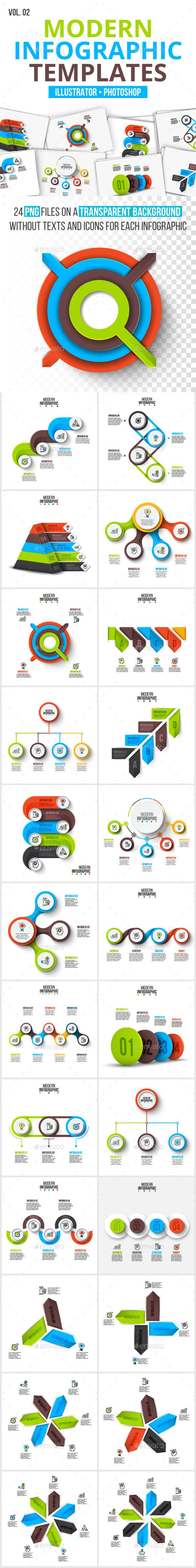 Modern infographic pack v.02 - Infographics
